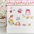 G&B Kids Olive The Owl Stickers Pink