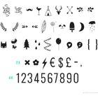 A Little Lovely Company Nummer og Symboler Bogstav Sæt Speciallampe