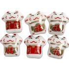Kineska symbolpärlor, dia. 14 mm, hålstl. 2,5 mm, 20 st.