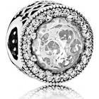 Pandora Radiant Hearts Sterling Silver Charm w. Transparent Cubic Zirconia (791725CZ)