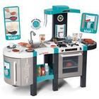 Smoby legekøkken - Mini Tefal - French Touch Bubble - Blå 46 dele - Køleskab, grill, espressomaskine, kogeplade, m.m.