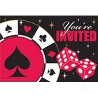 Invitationer - Poker - 8 styk