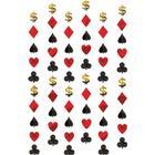 Hænge guirlander - Poker - 6 styk