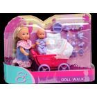 Evi STEFFI LOVE Evi -nukke kävelyllä, Vaaleanpunaiset vaunut