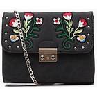 boohoo Lena Embroidered Lock Cross Body Bag