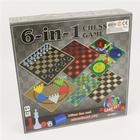 Spelbox med klassiska brädspel - 6 i 1 spel