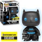 Justice League Batman Silhouette Glow In The Dark Pop Vinyl Figure Entertainment Earth Exclusive