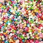 Beads 1000 st 4mm - Halvrunda / Platt Botten - 15 Färger