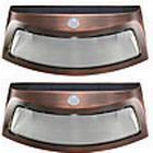 2 stk sollys lys bevægelsesdetektering 8 ledet vandtæt udendørs smilende væglamper trådløst sikkerhed trin natlamper-kobber