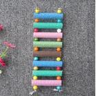13 Pieces Swing Wooden Parrot Pet Climbing Ladders Crawling Bridge Toy Shelf Cage - Random Color
