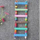 7 Pieces Swing Wooden Parrot Pet Climbing Ladders Crawling Bridge Toy Shelf Cage - Random Color