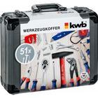KWB værktøjssæt 51 dele i plastikkuffert 370740