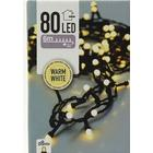Lyskæde - 80 pærer -  8 mm - LEDlys - sort ledning