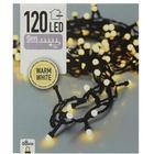 Lyskæde - 120 pærer -  8 mm - LEDlys - sort ledning