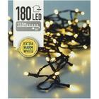 Lyskæde - 180 pærer - LEDlys - grøn ledning