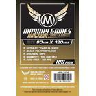 Mayday Standard Magnum Gold Card Game Sleeves - Kartenschutzhüllen 80x120mm (100 Stück) für Dixit