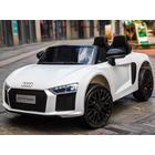 ToyandModelStore 12V Electric White Audi R8 Spyder Licensed Model Ride On Car With Pare