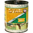 Kerbl Elstängselrep Star 400 m vit och grön 44528