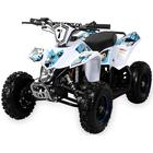 49CC Fox Mini ATV med E-start Hvid/Blå