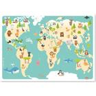 Studio Circus, Affisch - Världskarta Djur 50x70 cm