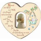 Herz mit Schutzengel zur Geburt