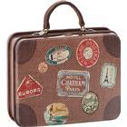 Metal kuffert brun rejse kuffert