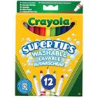 Crayola Super Tips Washable Lavable Auswaschbar 12-pack
