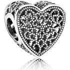 Pandora Openwork Romance Heart Sterling Silver Charm (791811)
