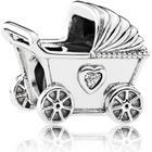 Pandora Baby Pram Sterling Silver Charm w. Cubic Zirconia (792102CZ)