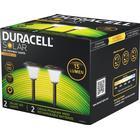 Duracell Garden LED-solcellelampe til haven Metal/Glas, sort, 2stk