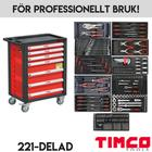 Verktygsvagn med verktyg TIMCO 7LTK 221-delar PRO