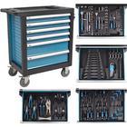 vidaXL Verktygsvagn med 270 verktyg stål blå