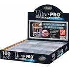 Ultra Pro 9-Pocket Secure Platinum Pages (100)