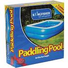 Kingfisher Paddling Pool - Blue Garden Summer H51 X W201 X D150 Cm