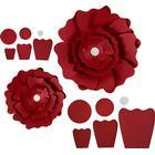 Happy Moments Pappersblommor, dia. 15+25 cm, 230 g, 2 st., röd