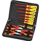 DELTACOIMP Sprotek ST-7639, verktygskit med 7 mejslar, 3 tänger, 1000V, röd/gul
