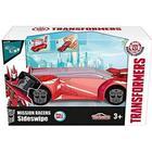 OPENBOX Coche Transformers con Lanzadera Hasbro 213112002 Majorette 11 cm
