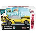 OPENBOX Coche Transformers con Lanzadera Hasbro 213112001 Majorette Bumblebee 11 cm