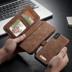 CaseMe Leather Wallet 14 (iPhone X) - Röd