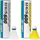 Yonex Mavis 600 10 rör Vit boll - Snabb (Röd rand)