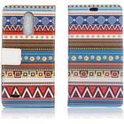 LG K10 2017 patterned PU leather flip case - Tribal Tribe Pa