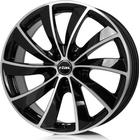 Rial Lugano Black Polished 7.5x17 5/100 ET36 HB63.3