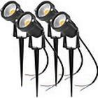 4stk 4.5W LED-projektører / Lawn Lights Nyt Design / Vandtæt / Dekorativ Varm hvid / Kold hvid / Rød 85-265V / 12V Udendørsbelysning /