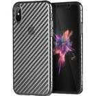 Hoco iphone x unikt karbon fiber skal - svart
