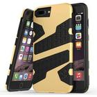 Mili camouflage cover til iPhone 7 Plus / iPhone 8 Plus - Guld