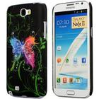 Galaxy Note 2 Motiv cover - Neon Sommerfugle