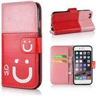 Happy smiley cover til iPhone 6 Plus / 6S Plus - Lyserød/Rød
