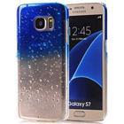 Trendy vanddråber cover til Galaxy S7 blå
