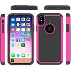 Hot Bubble Hardcase i TPU plast og Silikone til iPhone X - Pink