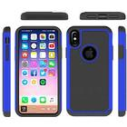 Hot Bubble Hardcase i TPU plast og Silikone til iPhone X - Mørkeblå